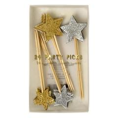 Glitter Star Party Picks