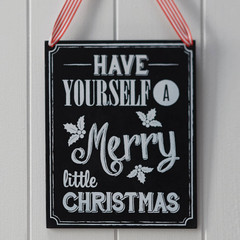 Wooden Chalkboard Very Merry Christmas Sign