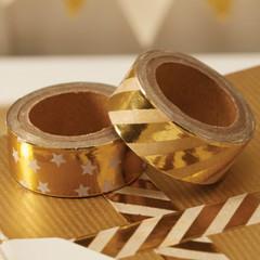 Washi Tape, Gold Foil