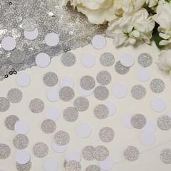 Confetti, Mini White and Silver Glitter