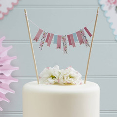 Floral Fancy Cake Bunting