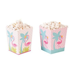 Forever Flamingos Popcorn Boxes