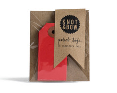 Parcel Tag: 10 cherry red