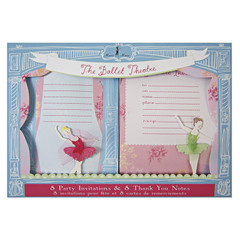 The Little Ballet Dancers Invitation and Thank you Set
