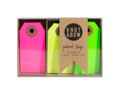 Parcel Tag Trio: Classic Neon