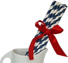 Paper Straws, Stripey Navy Blue