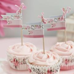 Floral Fancy Cupcake Picks