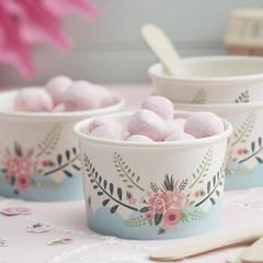 Floral Fancy Ice Cream Tub w/ Spoon