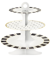 Miss Etoile Black and White Stand with Stripes and Dots