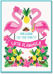 Let's Flamingle Party Poster