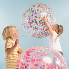 Balloon Kit, Giant Multi-colored confetti