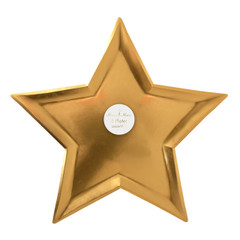 Seeing Stars, Gold Foil Plates, Large