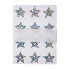 Holographic Chunky Star Glitter Stickers