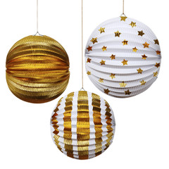 Gold Foil Globe Decorations