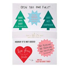 Stickers, Festive Gift Wrap Embellishments