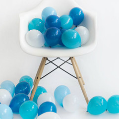 Balloons: 36 Mixed Blue Minis