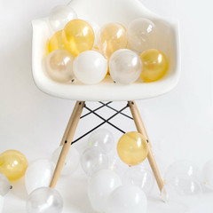 Balloons: 36 White Metallic Mixed Minis