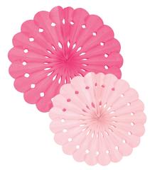 Tissue Paper Fans, Pink