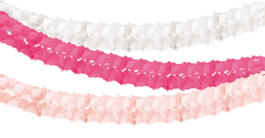 Honeycomb Tissue Garland, Pink