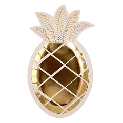 Pineapple Foil Plates