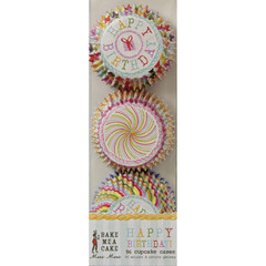 Happy Birthday Mini Cupcake Liners