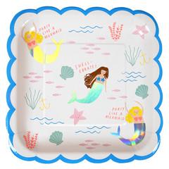 Mermaid Plates, Large