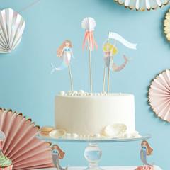 Let's Be Mermaids Cake Topper