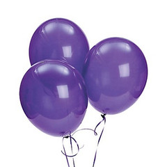 Balloons, Purple Latex