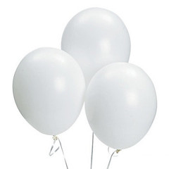 Balloons, White Latex