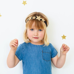 Glittery Gold Star Headband
