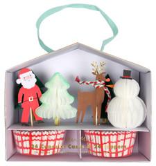 Santa & Reindeer Cupcake Kit