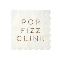 Pop Fizz Clink Napkins, Small