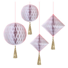 Iridescent Honeycomb Decoration Set