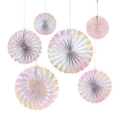 Iridescent Pinwheel decoration set