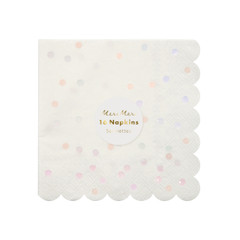 Iridescent Spotty Napkins, Small