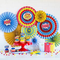 Super Hero Party Pinwheels