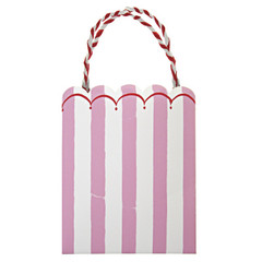 Toot Sweet Pink Stripe Party Bag
