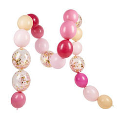 Pink Shimmer Linking Balloon Set