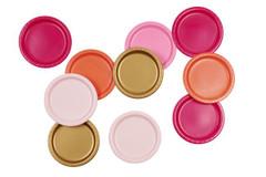 Pink Shimmer Plates, Large