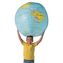 Giant inflatable Globe Beach Ball