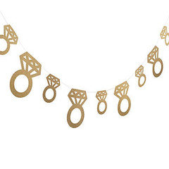 Gold glitter Diamond Ring Garland