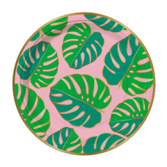 Monstera Leaves, Round Plates
