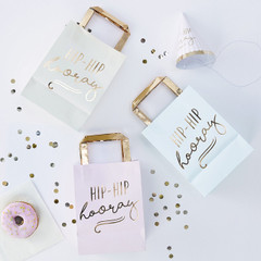 Hip, hip hooray Pastel Party Bags