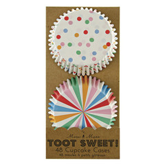 Toot Sweet Multi-colored Cupcake Liners