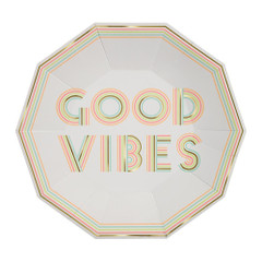 Good Vibes Plates, Large