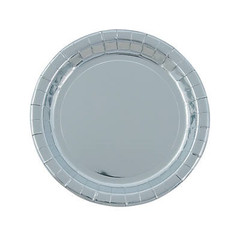 Silver Foil Plates, Large