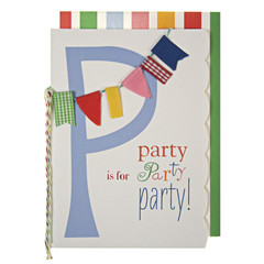 Greeting Card: P is for Party