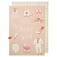 Greeting Card: Pink Baby Girl