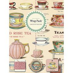 Cavallini Tea & Sweets Gift Wrap Pack