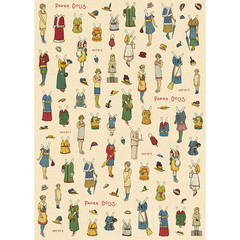 Paper Dolls Wrapping Paper
